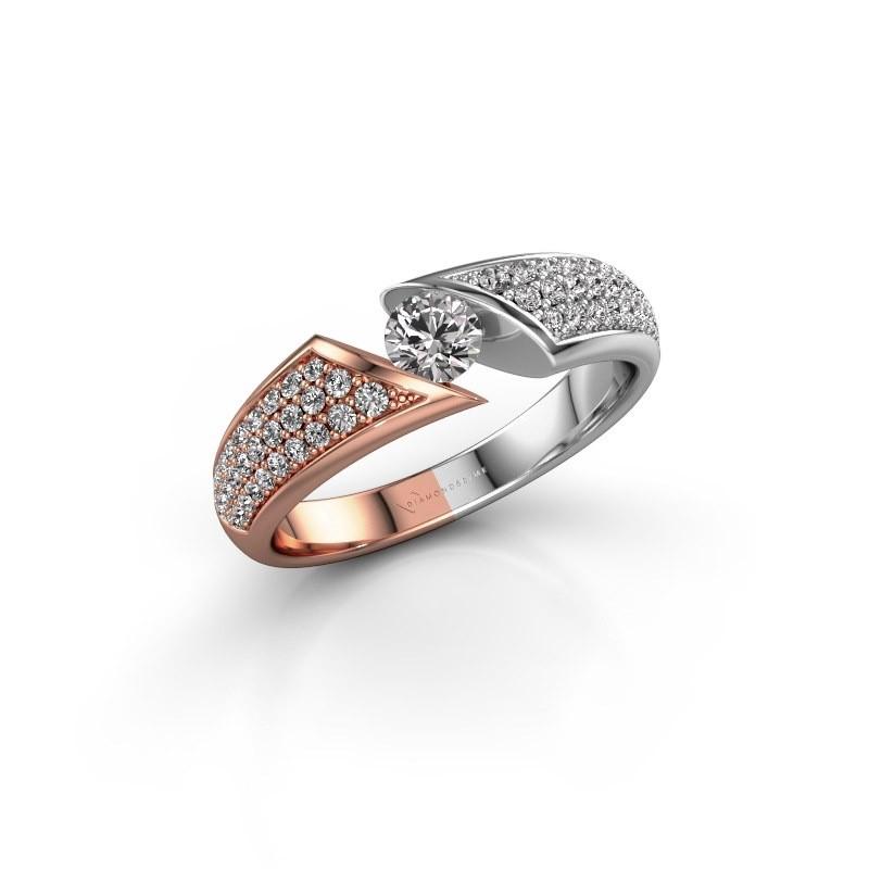 Engagement ring Hojalien 3 585 rose gold diamond 0.621 crt