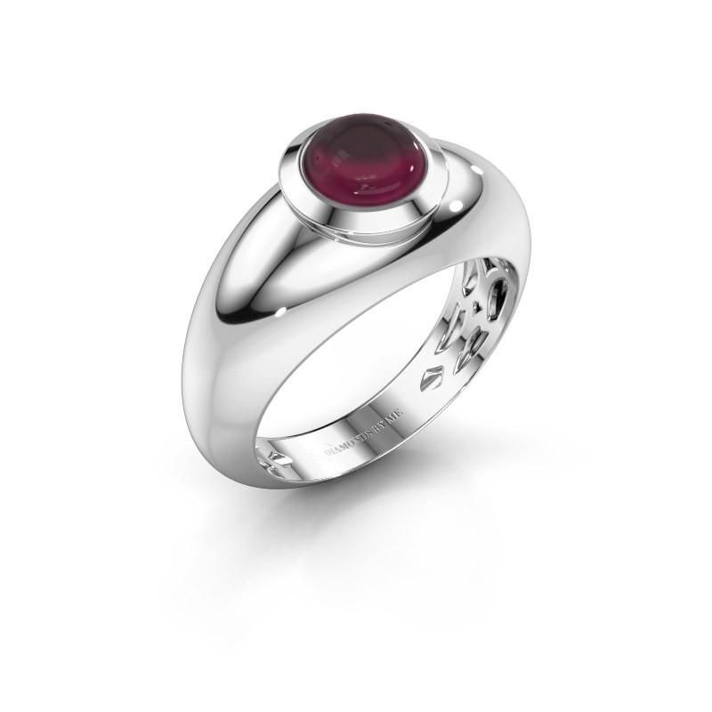 Ring Sharika 925 zilver rhodoliet 6 mm