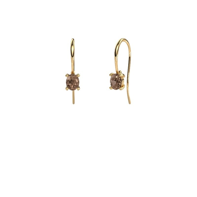 Drop earrings Cleo 585 gold brown diamond 1.00 crt