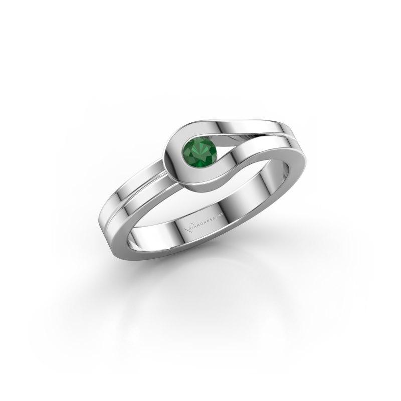 Ring Kiki 925 silver emerald 3 mm