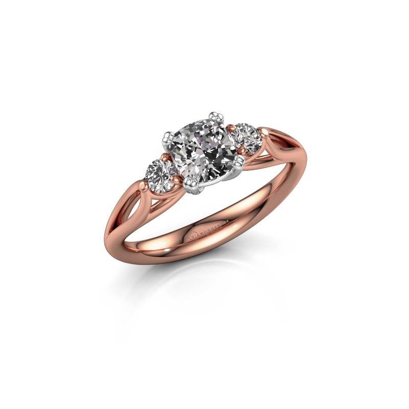 Verlovingsring Amie cus 585 rosé goud diamant 1.20 crt