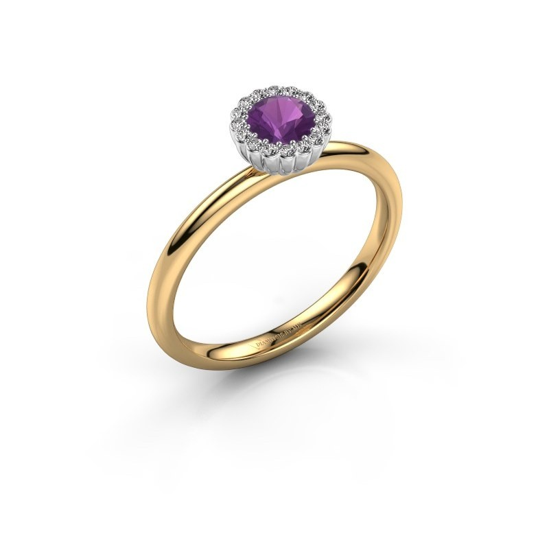 Engagement ring Queen 585 gold amethyst 4.2 mm