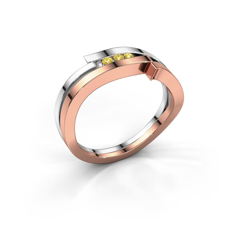 Ring Amelie 585 rose gold yellow sapphire 1.7 mm
