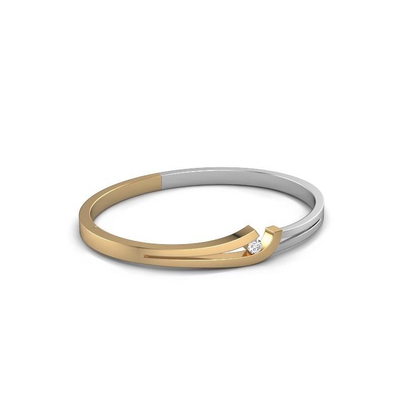 Slavenarmband Yentl 585 goud zirkonia 3.7 mm