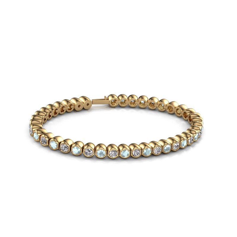 Tennisarmband Bianca 3.5 mm 375 goud aquamarijn 3.5 mm