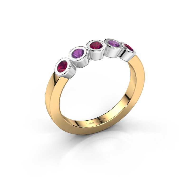 Ring Nova 585 gold rhodolite 3 mm