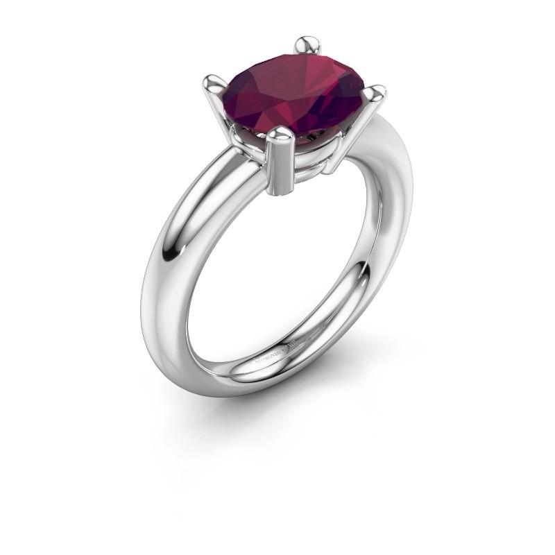 Ring Janiece 925 Silber Rhodolit 10x8 mm