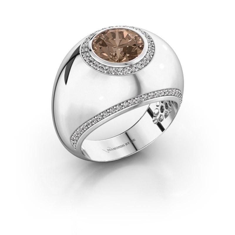 Ring Roxann 925 Silber Braun Diamant 2.41 crt