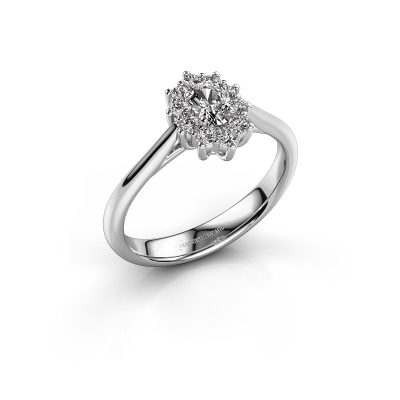 Verlovingsring Leesa 1 950 platina lab-grown diamant 0.35 crt