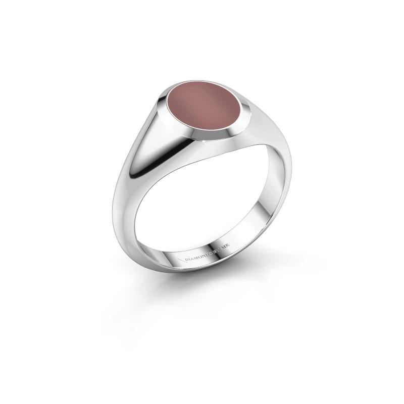 Pinkring Herman 1 925 zilver carneool 10x8 mm
