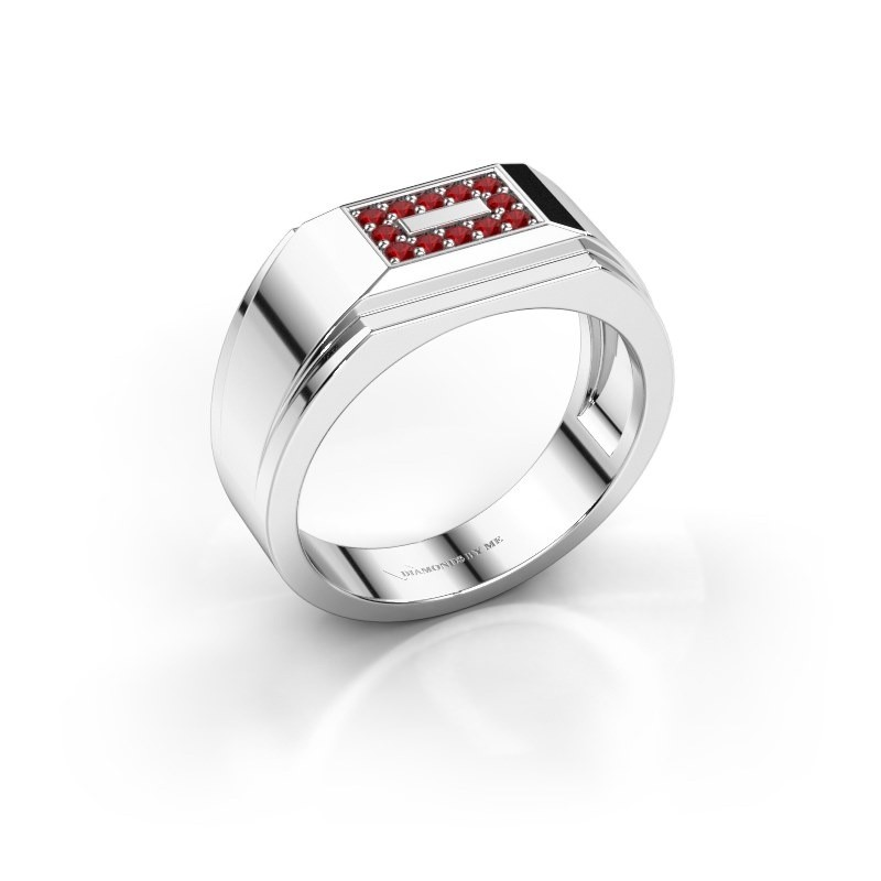 Men's ring Roan 950 platinum ruby 1.5 mm