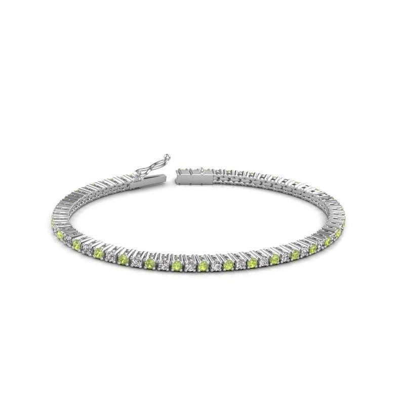 Tennis bracelet Karisma 585 white gold peridot 2.4 mm