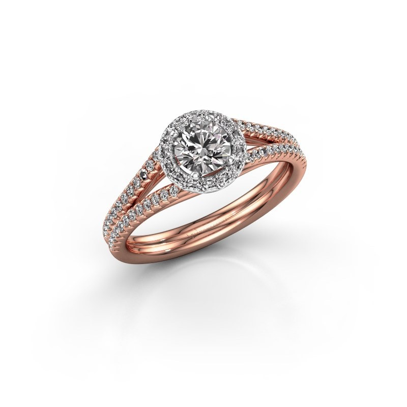 Verlobungsring Verla 2 585 Roségold Diamant 0.745 crt