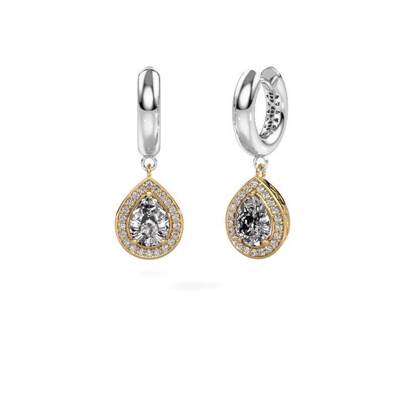 Oorhangers Barbar 1 585 goud diamant 2.065 crt