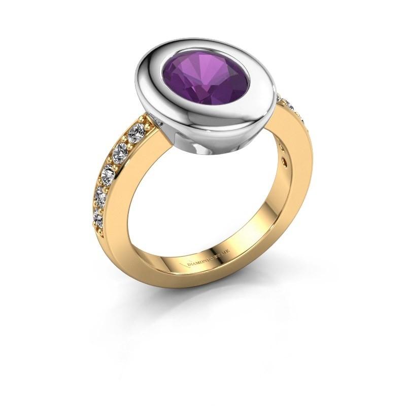 Ring Selene 2 585 gold amethyst 9x7 mm