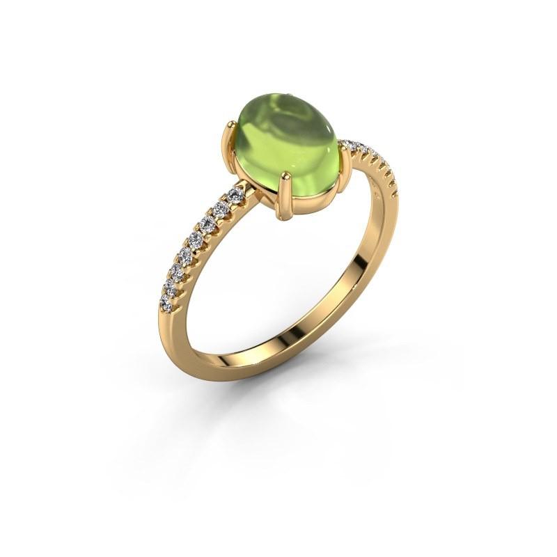 Ring Becky 585 Gold Peridot 8x6 mm