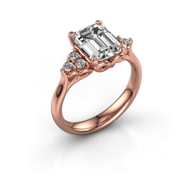 Aanzoeksring Myrna EME 375 rosé goud diamant 1.300 crt