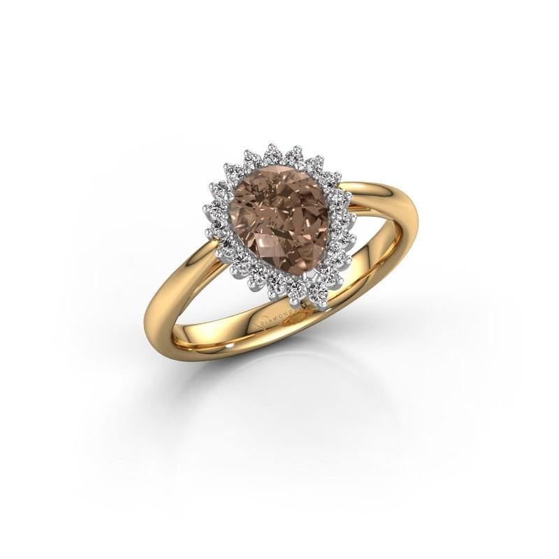 Verlovingsring Tilly per 1 585 goud bruine diamant 0.95 crt