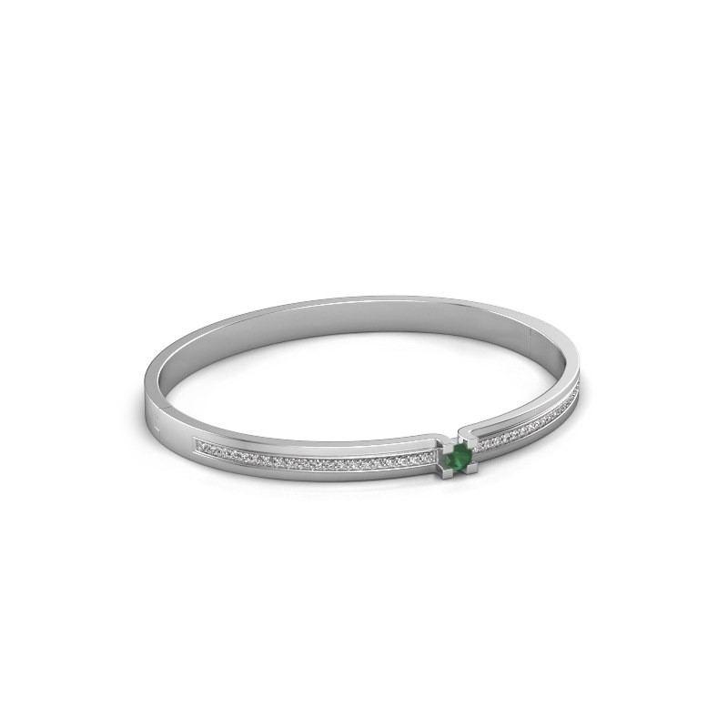 Bracelet Myrthe 585 white gold emerald 4 mm