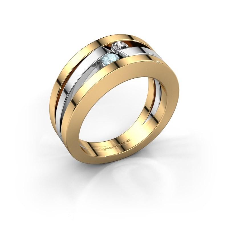 Ring Valerie 585 goud aquamarijn 2.7 mm