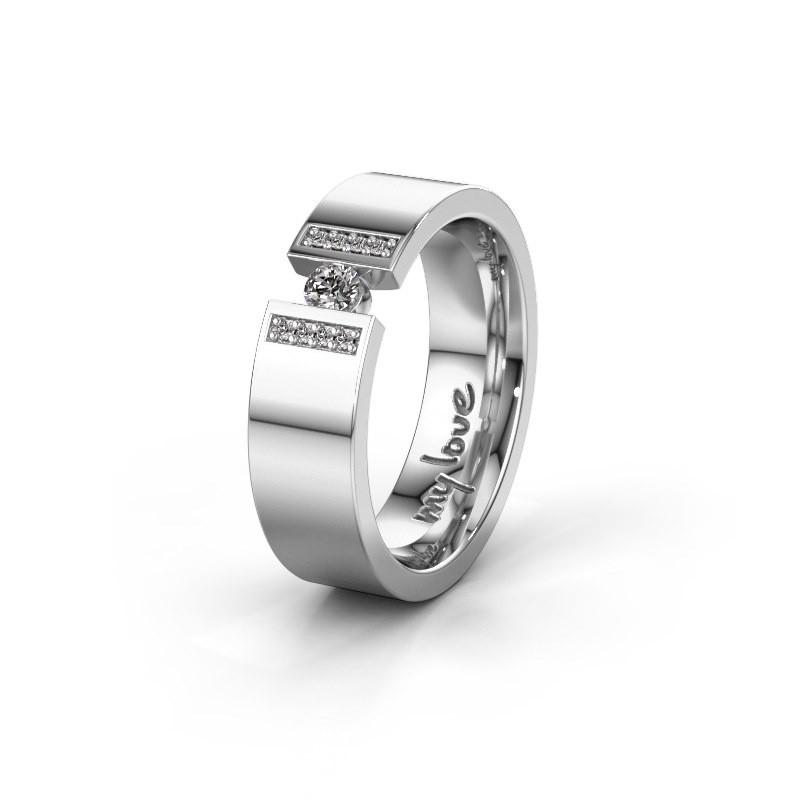 Trouwring WH2096L16C 925 zilver ±6x2.2 mm