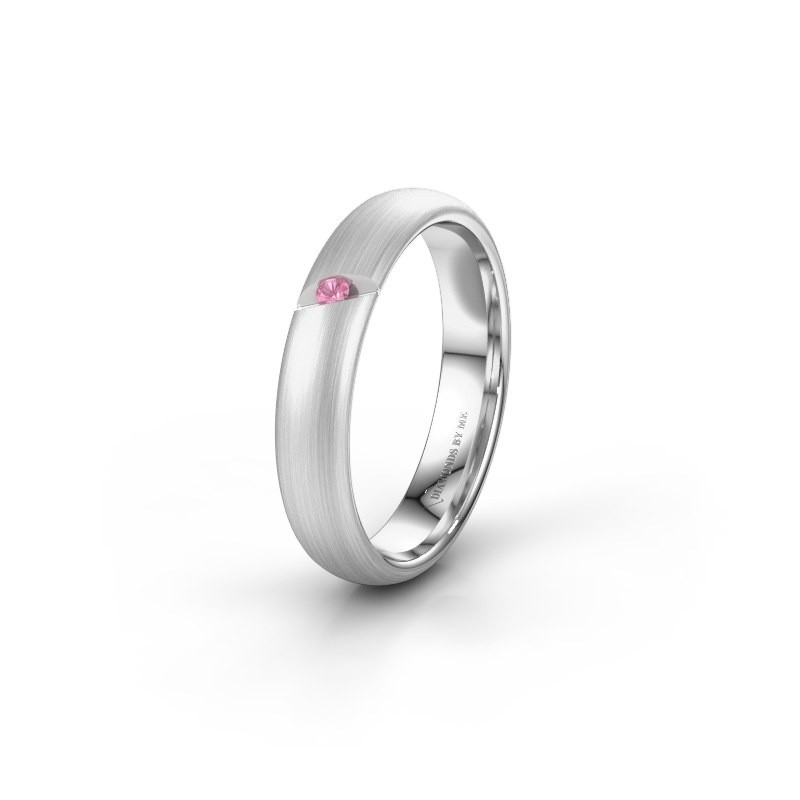 Wedding ring WH0176L34AP 925 silver pink sapphire ±4x1.7 mm