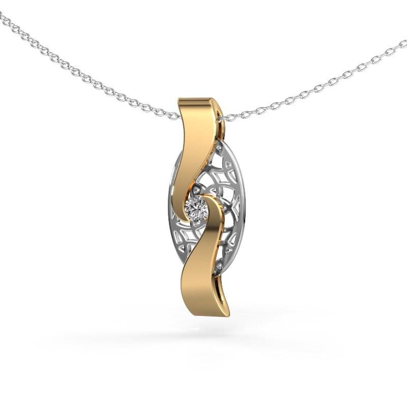 Hanger Darleen 585 goud zirkonia 3 mm