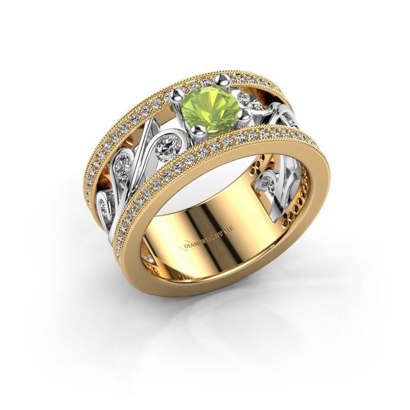 Ring Sanne 585 gold peridot 5 mm