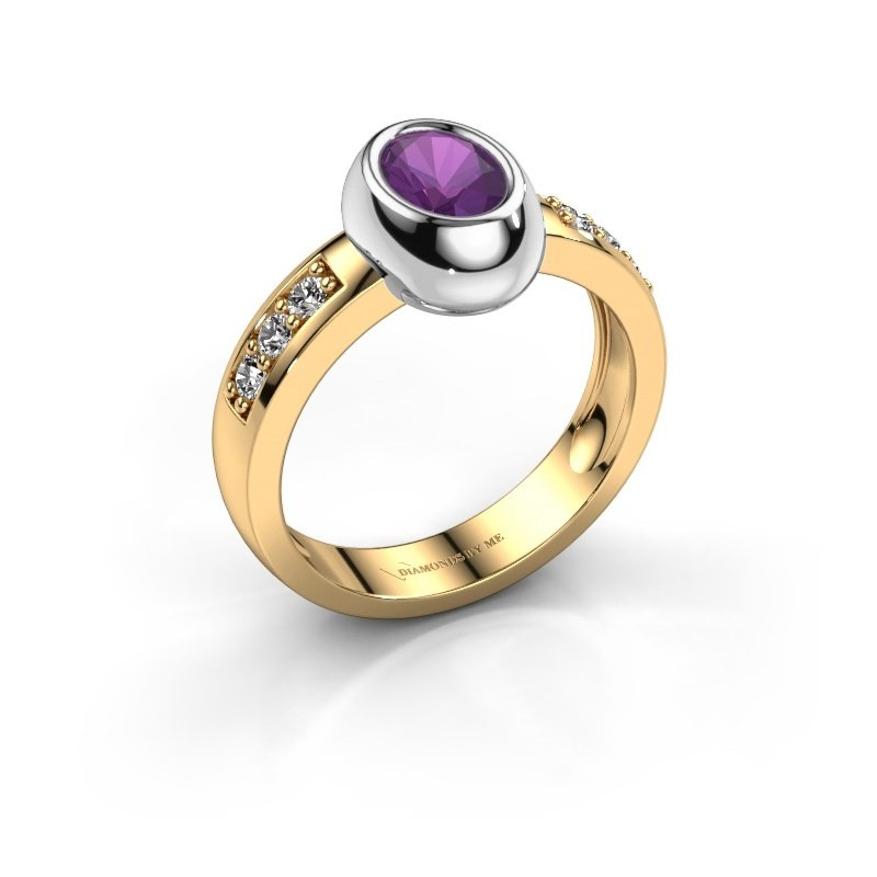 Ring Charlotte Oval 585 Gold Amethyst 7x5 mm