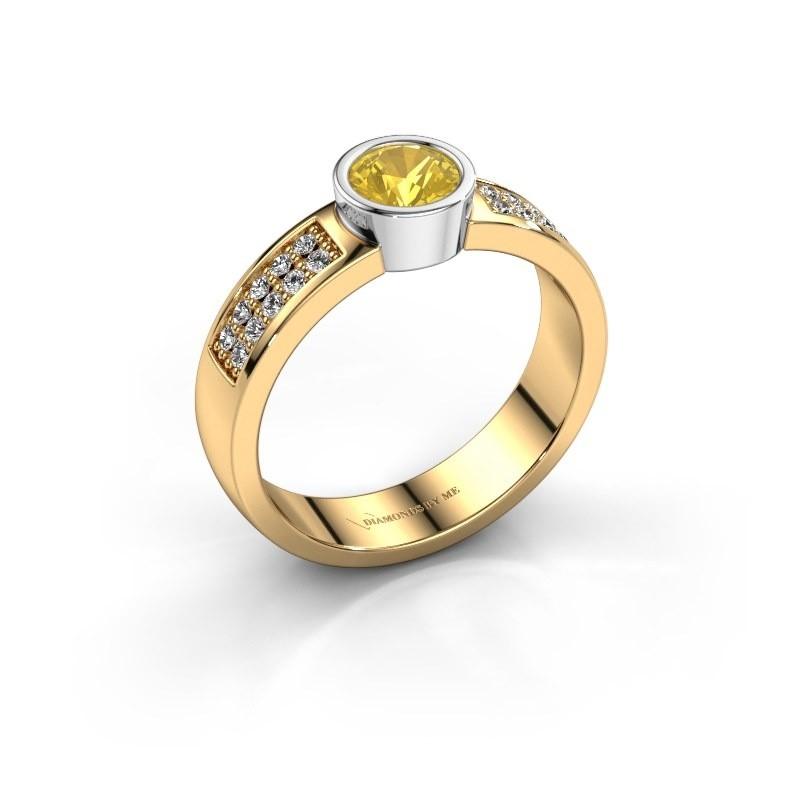 Verlovingsring Ise 3 585 goud gele saffier 4.7 mm