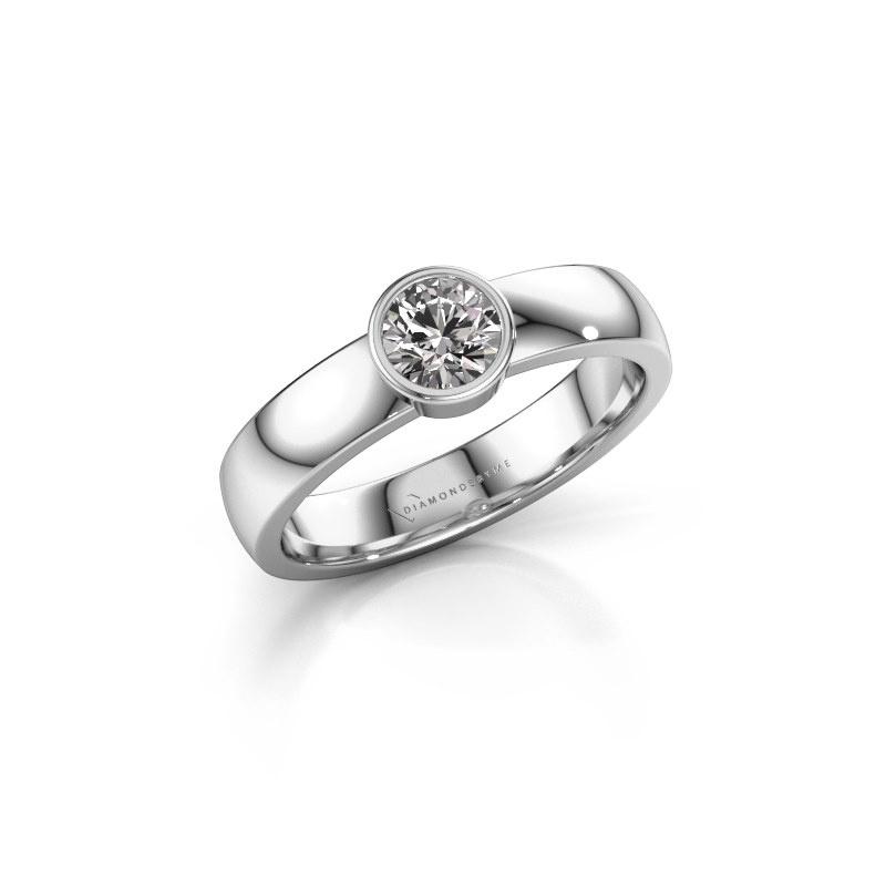 Ring Ise 1 585 witgoud zirkonia 4.7 mm