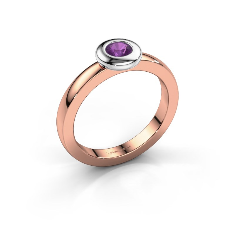 Ring Iris 585 rose gold amethyst 4 mm