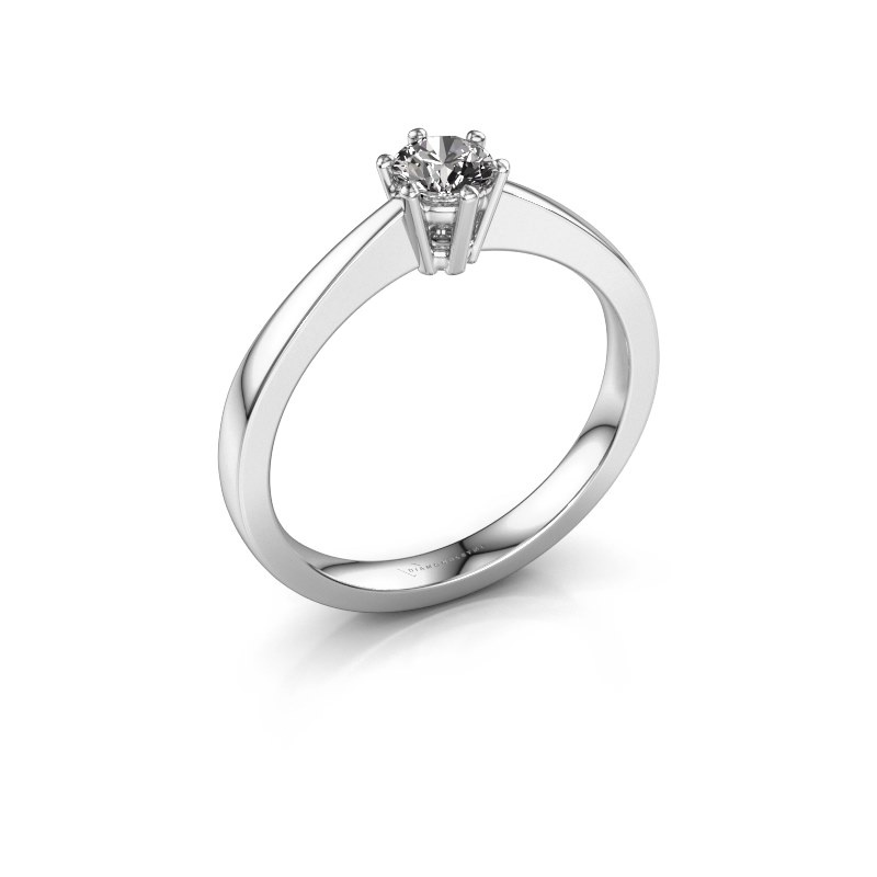 Bague de fiançailles Noortje 585 or blanc diamant 0.30 crt