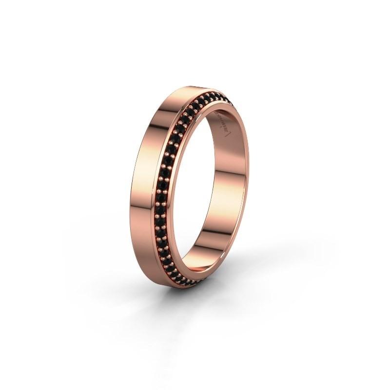 Alliance WH2106L14C 375 or rose diamant noir ±4x2.2 mm