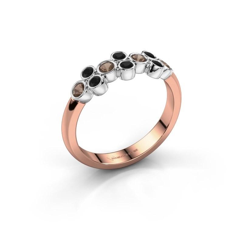 Ring Kayleigh 585 Roségold Rauchquarz 2.4 mm
