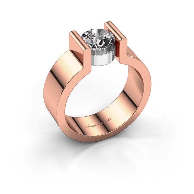Verlovingsring Isabel 1 585 rosé goud diamant 1.00 crt