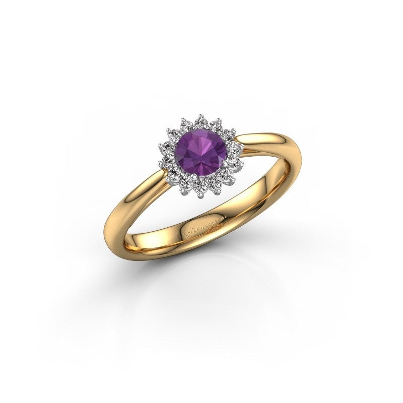 Engagement ring Tilly RND 1 585 gold amethyst 4.2 mm
