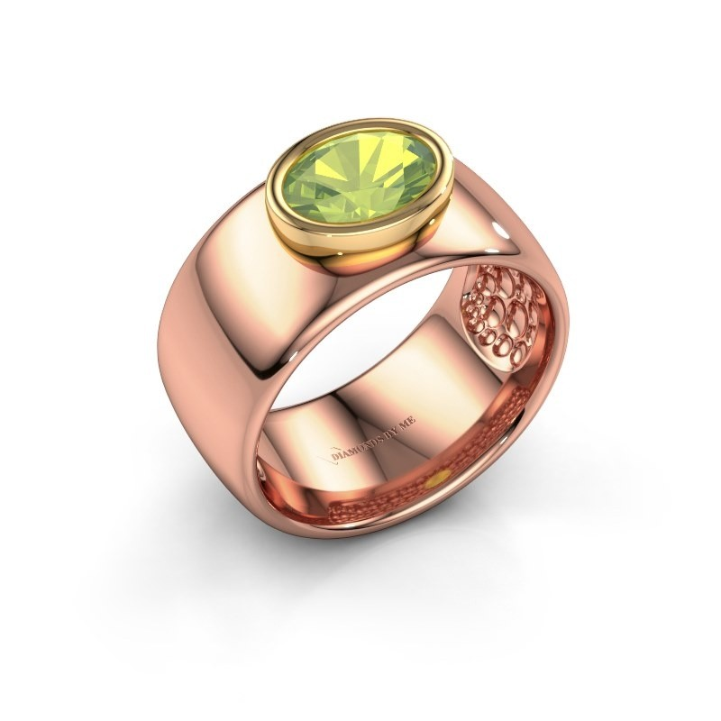 Ring Anouschka 585 rose gold peridot 8x6 mm