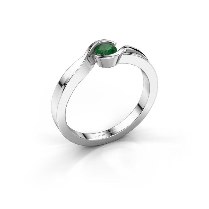 Ring Lola 925 silver emerald 4 mm