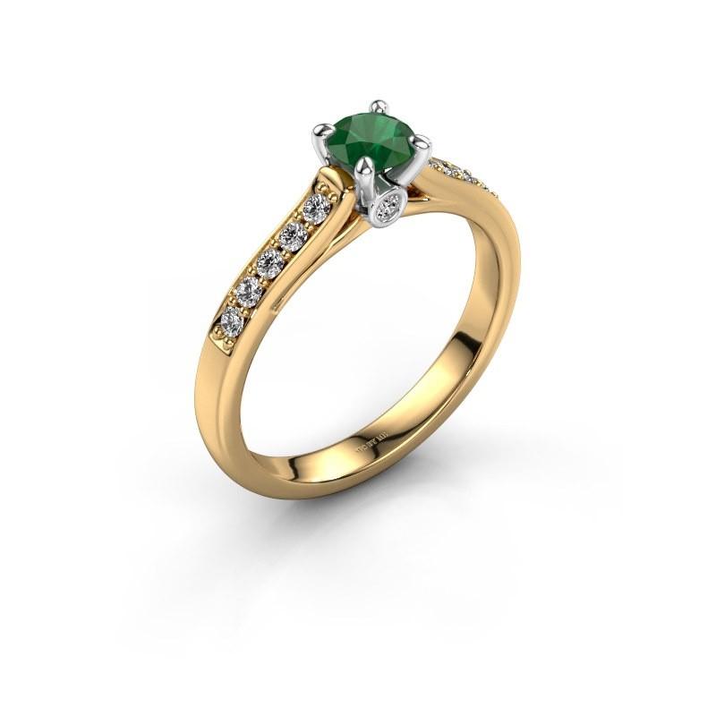 Verlovingsring Valorie 2 585 goud smaragd 4.7 mm
