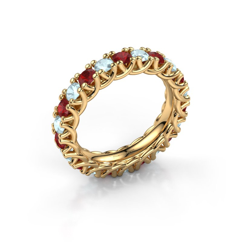 Ring Fenna 585 goud robijn 3 mm