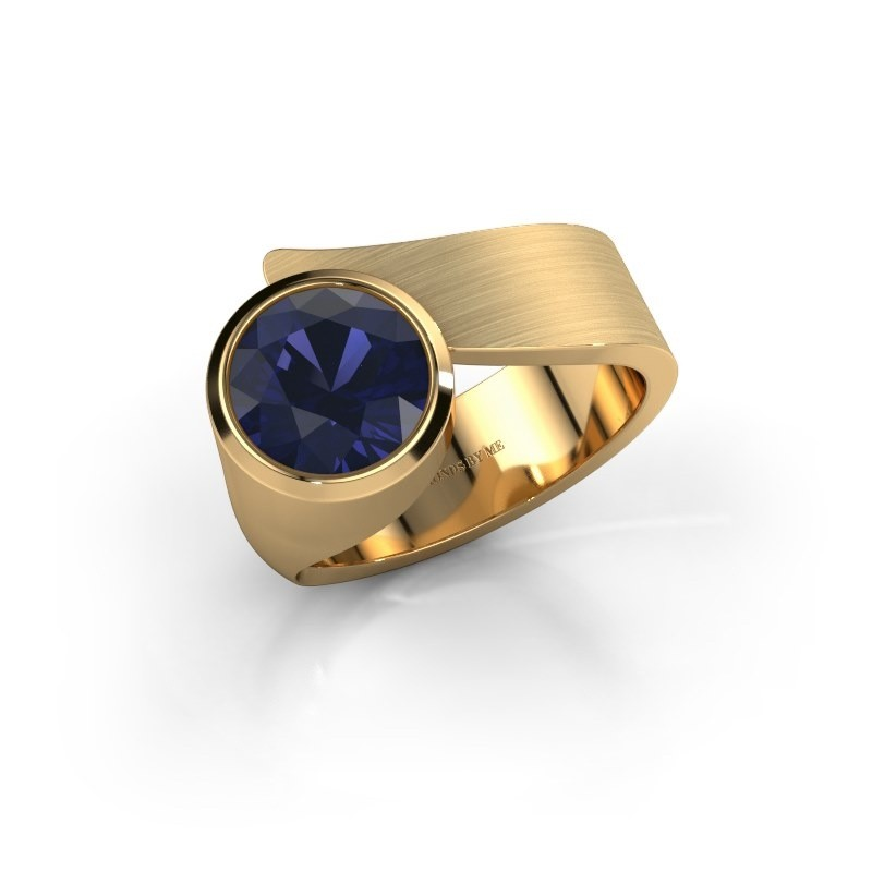 Ring Nakia 585 goud saffier 8 mm