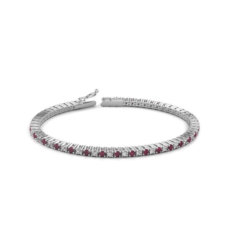 Tennis bracelet Karisma 585 white gold rhodolite 2.4 mm