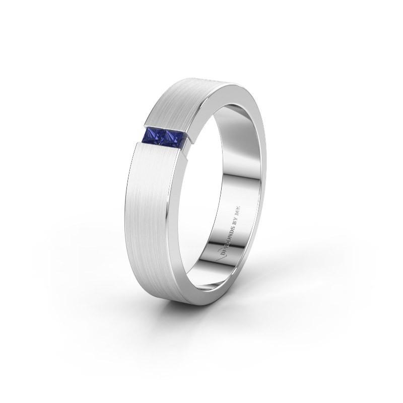 Wedding ring WH2136M15E 950 platinum sapphire ±5x2.4 mm