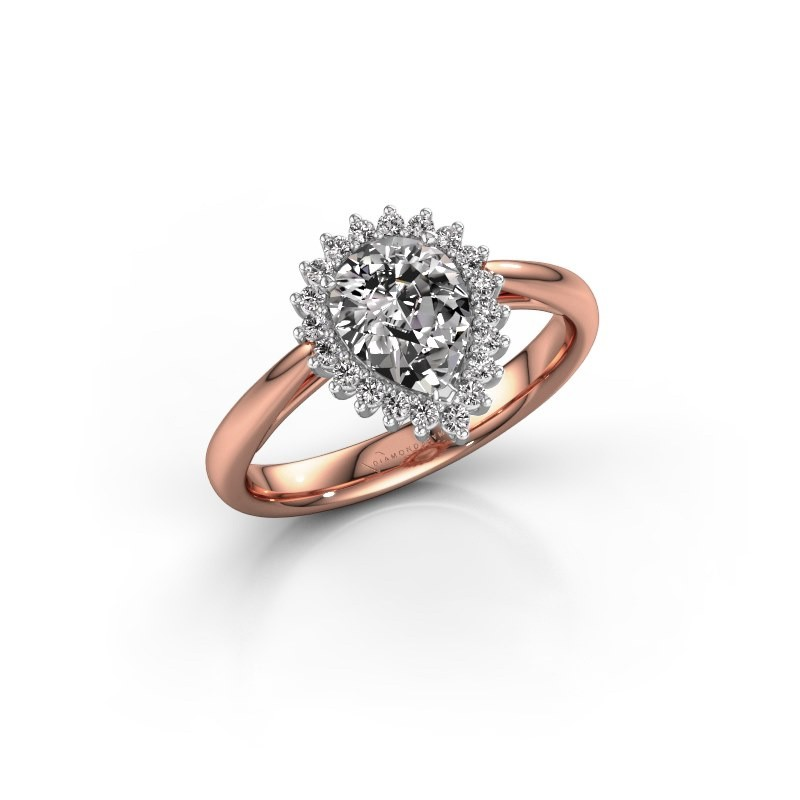 Engagement ring Chere 1 585 rose gold diamond 0.95 crt
