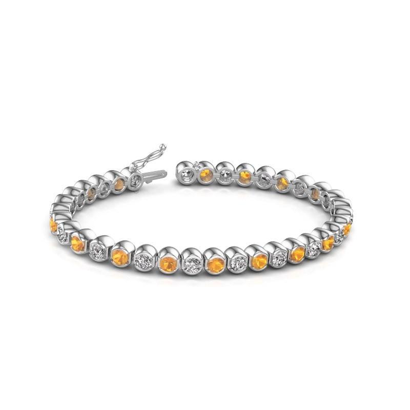 Tennis bracelet Bianca 585 white gold citrin 4 mm