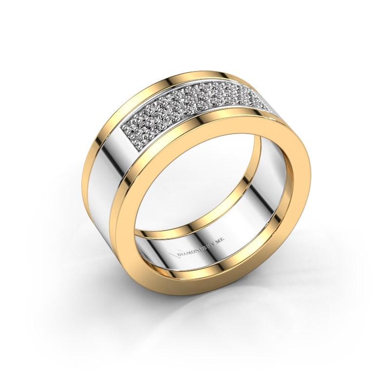 Ring Marita 3 585 witgoud diamant 0.29 crt