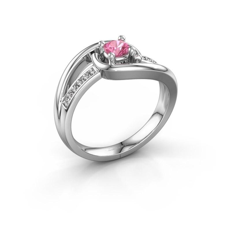 Ring Aylin 950 platinum pink sapphire 4 mm