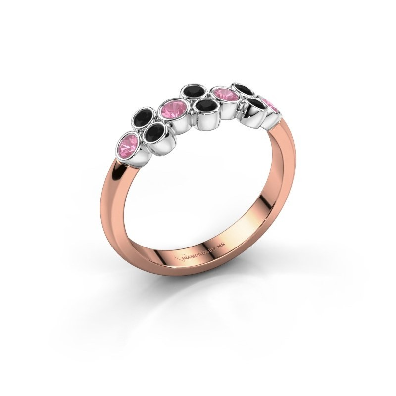 Ring Kayleigh 585 rose gold pink sapphire 2.4 mm