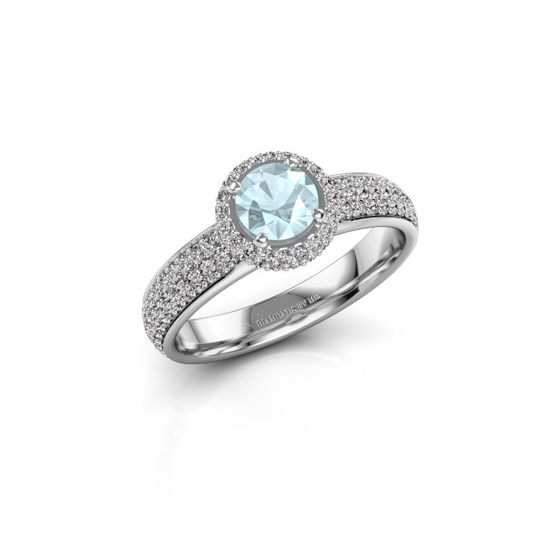 Engagement ring Mildred 950 platinum aquamarine 5 mm